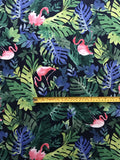 FS128 Flamingo Tropical Print Scuba Fabric