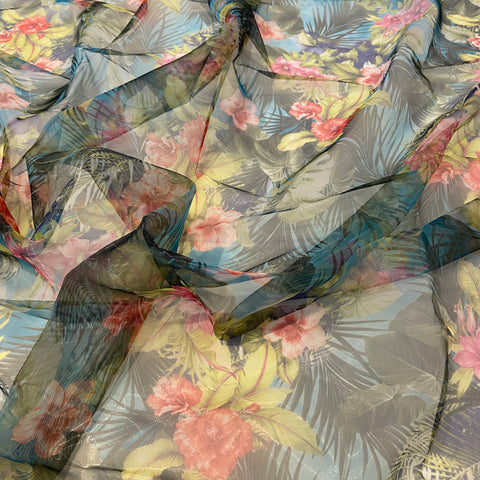 44. Tropical Organza Floral | Fabric Styles