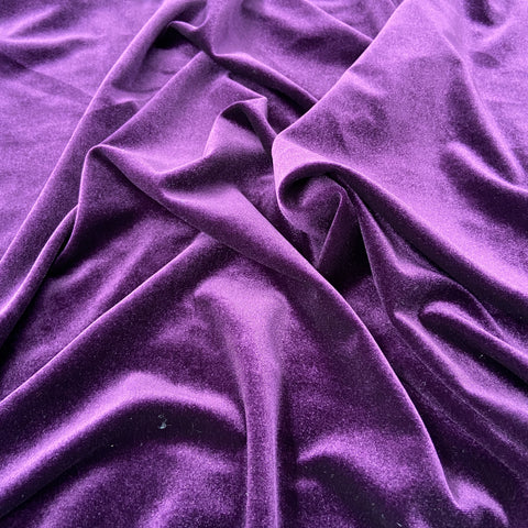 FS143_3 Plain Purple Velvet