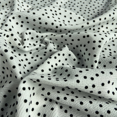 FS589_1 White & Black Polka Dots