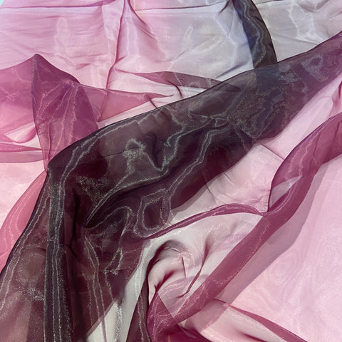 49. Purple Organza Tie Dye | Fabric Styles