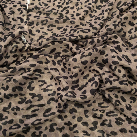 3.1 Metres Leopard Powermesh | Fabric Styles