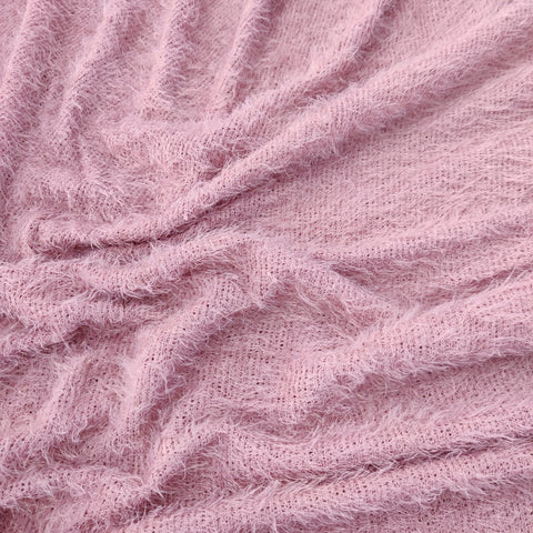 FS621_3 Rose Pink Eye Lash Fabric
