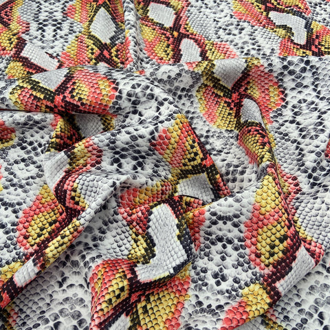 FS062_8 Red/Yellow/White Snake Skin