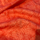Orange Snake Skin - Fabric Styles