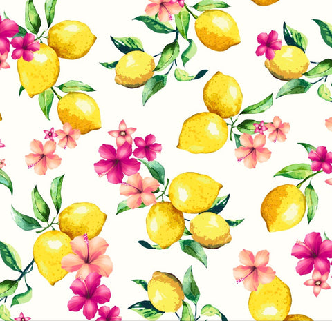 FS295 Lemon Floral | Fabric Styles
