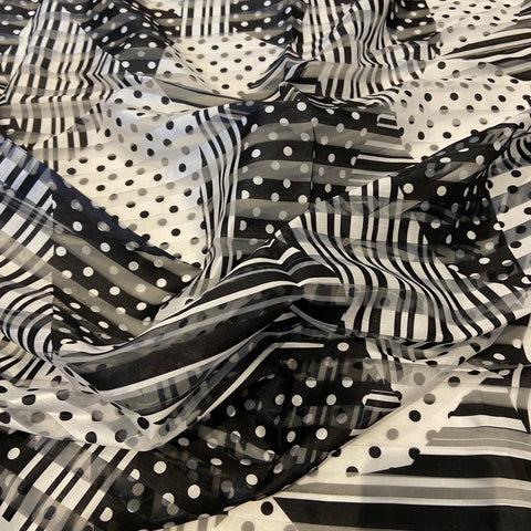 52. Organza Stripe Abstract Spots