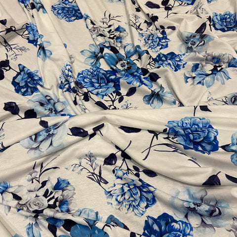 83. Blue Floral | Fabric Styles