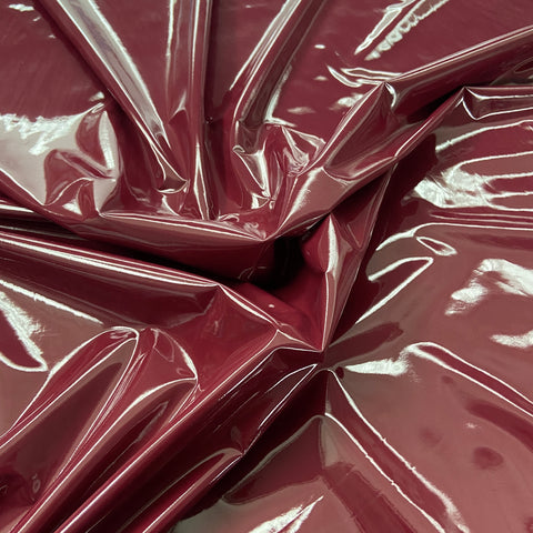 FS796_6 Shiny Wine Faux Leather