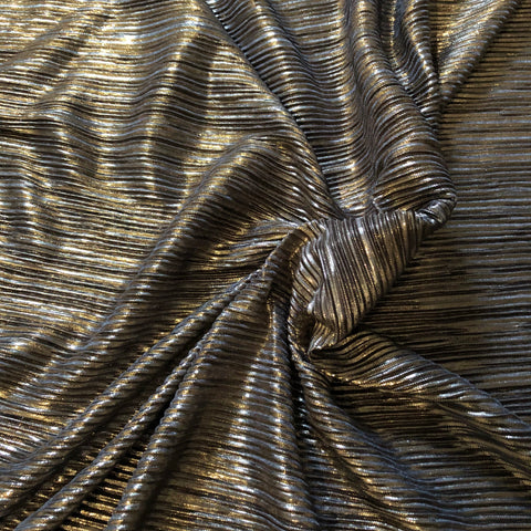 Silver foiled frill - Fabric Styles