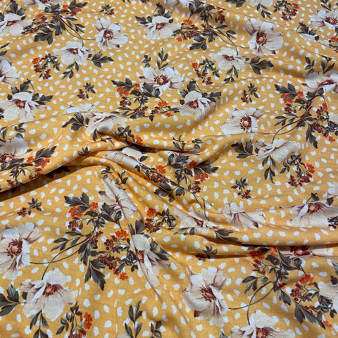 FS486 Yellow Floral | Fabric Styles