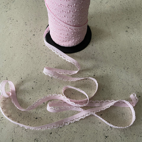 FS495_3 Pink Elastic Lace Braid Trim Lingerie Crafts | Fabric Styles