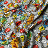 FS161_4 Comic Boom Bang Pow Print *EXCLUSIVE* | Fabric Styles