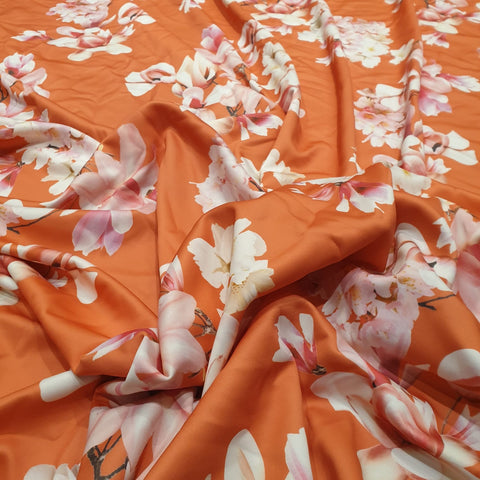 4. Orange Floral | Fabric Styles