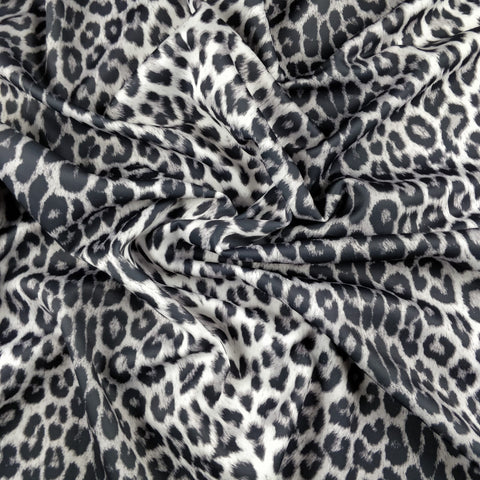 FS005_4 Black White Leopard | Fabric Styles