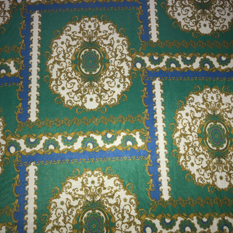 Chain print blue/green | Fabric Styles
