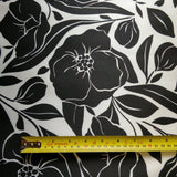 Satin Floral Fabric - Fabric Styles
