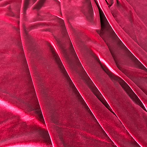 FS143_2 Plain Red Velvet | Fabric Styles