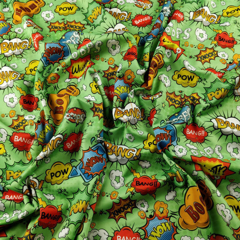 FS161_3 Green Comic | Fabric Styles