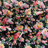 FS818_3 Black Floral Cotton Poplin
