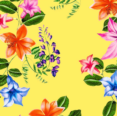 FS403_2 Lemon Floral | Fabric Styles