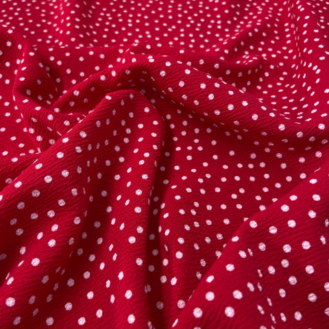 FS589_2 Red & White Polka Dots