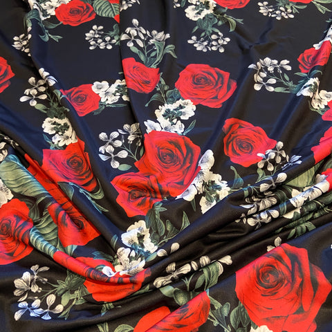 24. Black Rose Floral | Fabric Styles