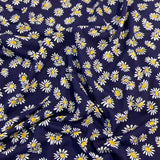 FS673 Sunflower Navy Floral