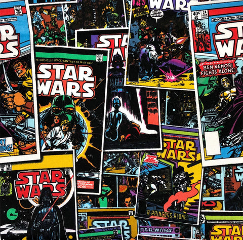 FS598_4 Star Wars Comic Book Cotton