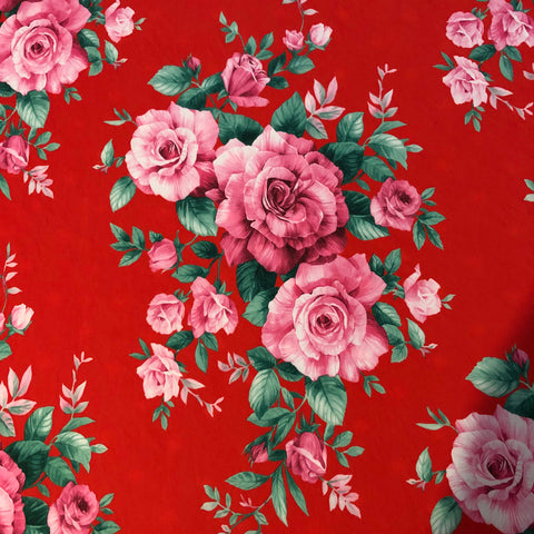 Pink Rose Floral - Fabric Styles