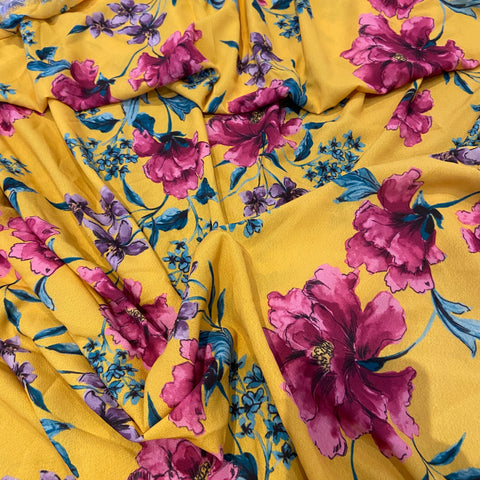 32. Mustard Floral | Fabric Styles