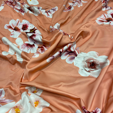 5. Orange Floral | Fabric Styles