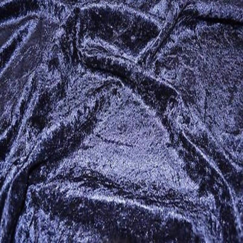 FS083_9 Crushed Velvet - Navy | Fabric Styles