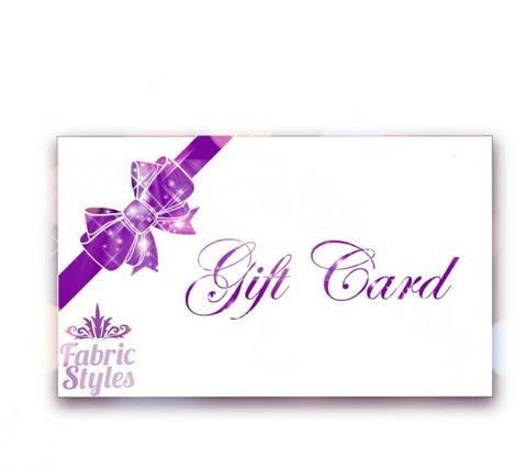 Gift Card | Fabric Styles