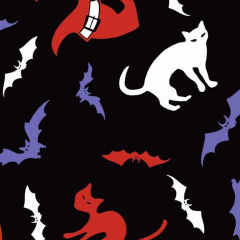 FS712 Cats and Bats | Fabric Styles
