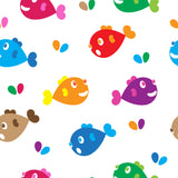 FS251 Multicolour Fishes | Fabric Styles