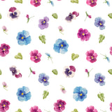 FS260 Watercolour Pansies | Fabric Styles