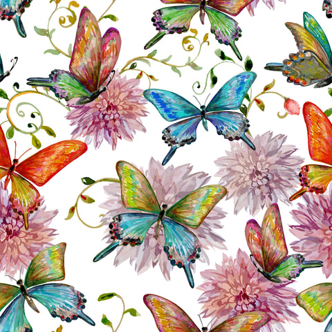 FS248 Vintage Butterfly Floral