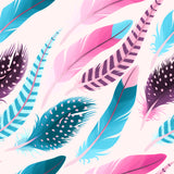 FS252 Pink Feathers | Fabric Styles