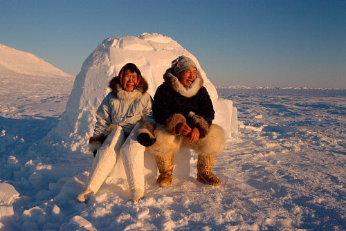 Sleeping in an igloo