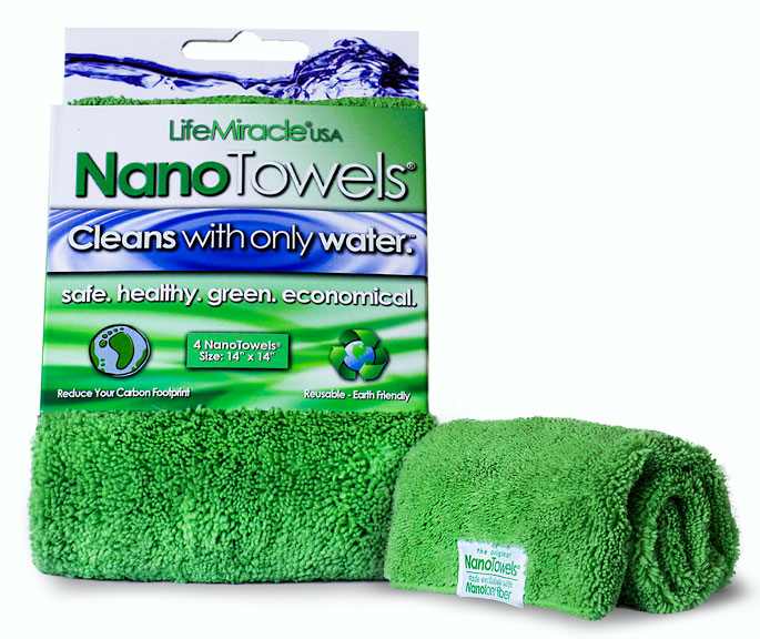 Get Rid of Those Paper Towels.  Nano Towels Amazing Eco Fabric That Can Clean Virtually Any Surface