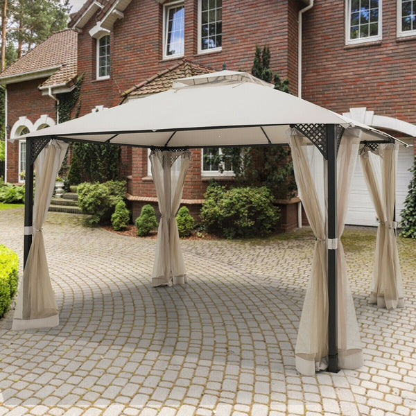 12 x 10 Outdoor Double Top Patio Gazebo