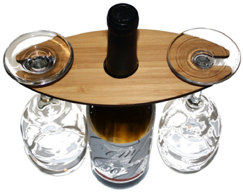 Handmade Wine Glass Caddy - Two Glass