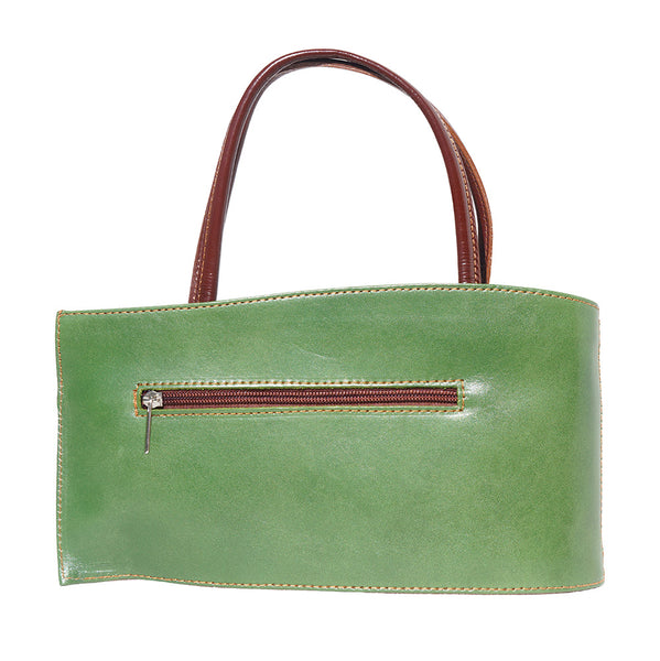 Nano leather handbag