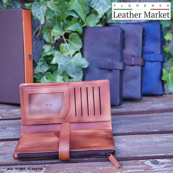 Wallet Agostino in vintage leather
