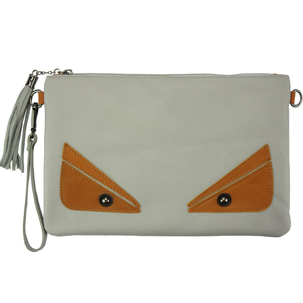 Teodora Clutch in smooth calfskin leather