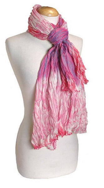 Women's Stylish Trendy Lightweight Crinkled Faded Tie Dye Scarf Sarong