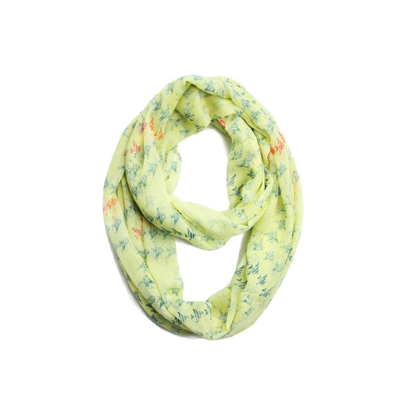 Fish Print Cotton Infinity Scarf