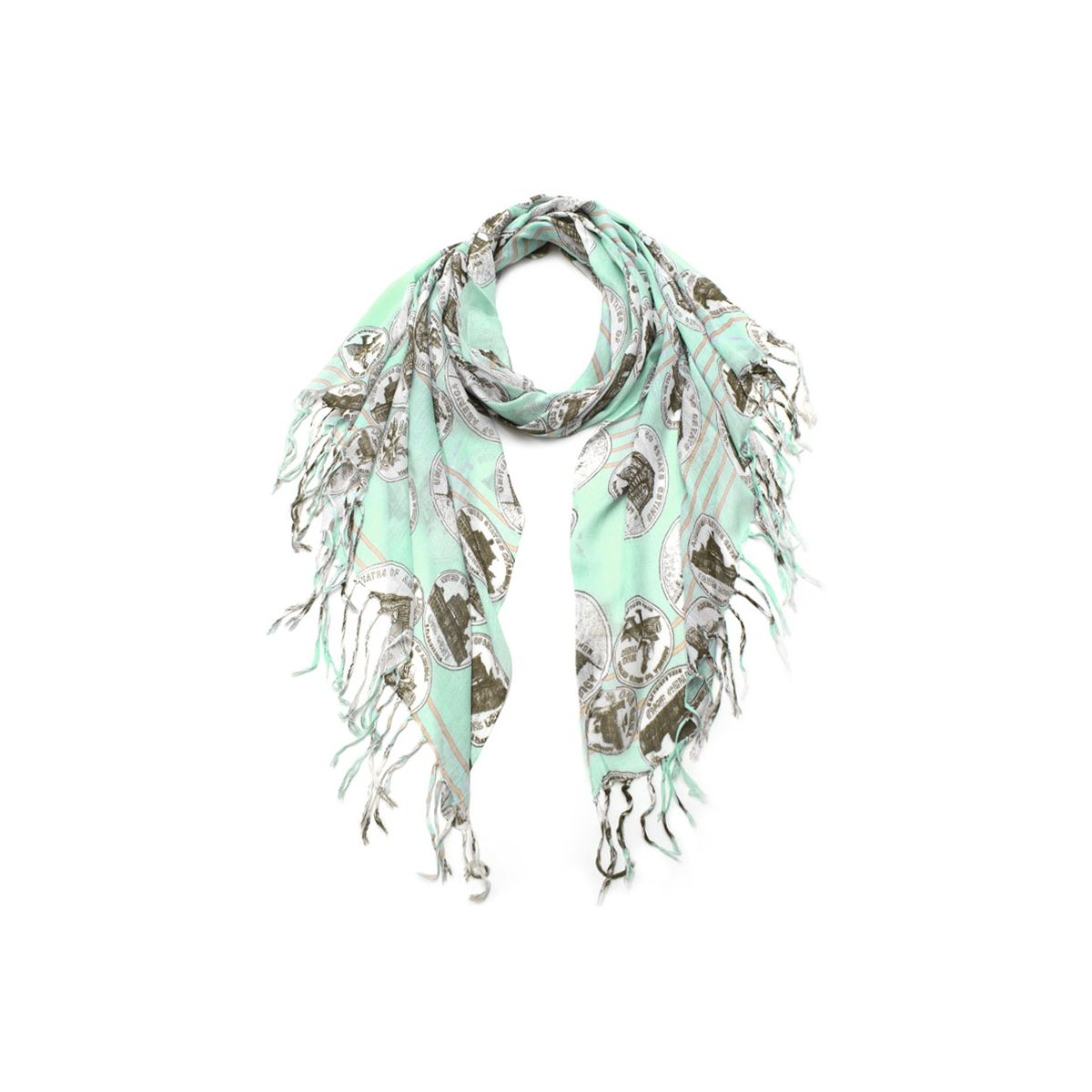 Historical Coin Print Scarf