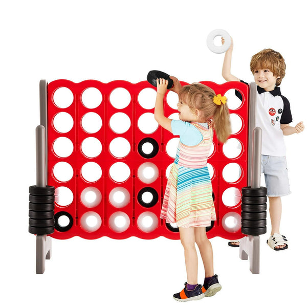 Jumbo 4-to-Score 4 in A Row Giant Game Set for Outdoor Indoor